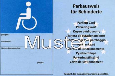 Behindertenparkausweis Behindertenparkplatz