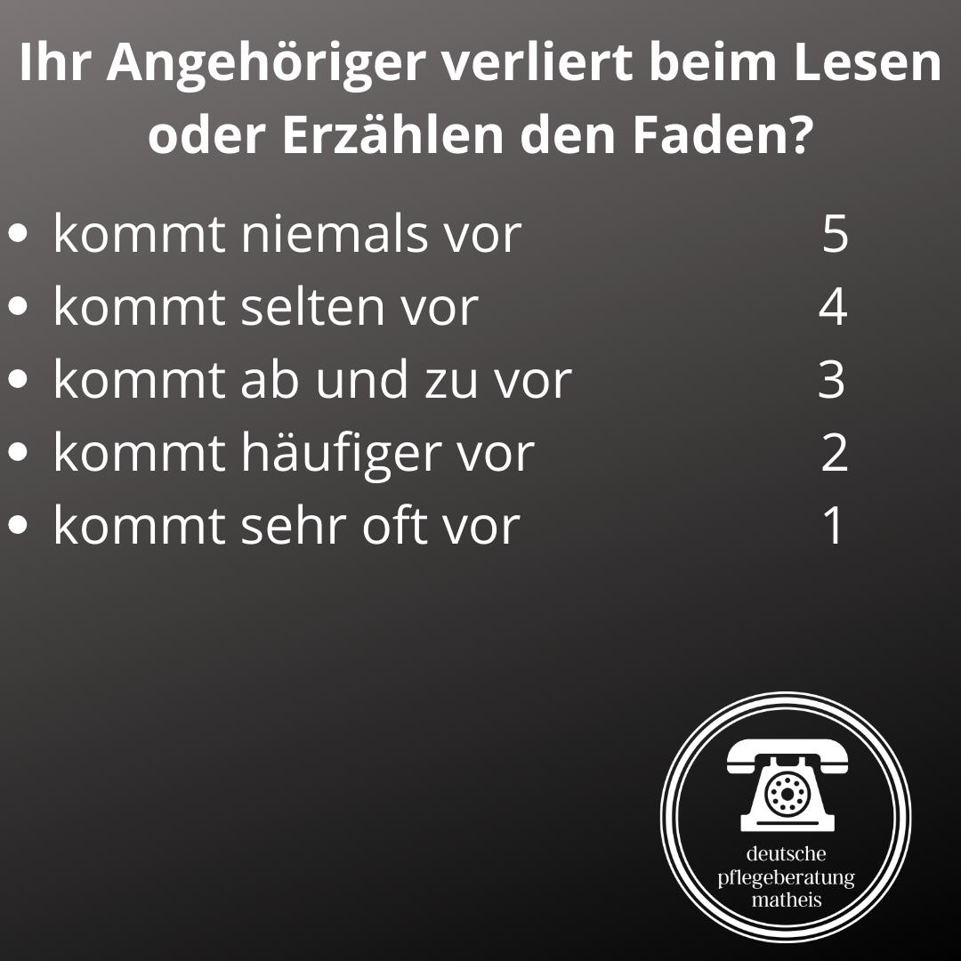 Deutsche Pflegeberatung Matheis Selbsteinschätzung Demenz 6